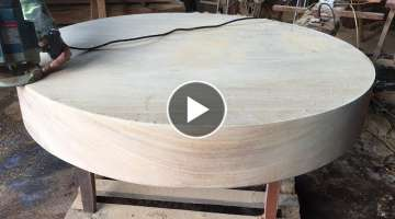 Woodworking Projects For The Dining Table Extremely Large | How To Make A Round Table Top