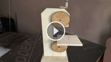 Making a Homemade Bandsaw (drill powered)