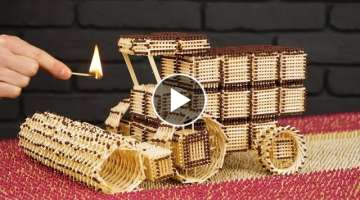 How to Build Combine Harvester from Matches Without Glue