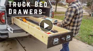 How To Build Truck Bed Drawers // SUV Drawer // DIY