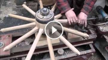 Wooden wheel making .wheelwrights.