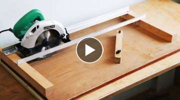 Homemade Circular Saw Crosscut Jig 1 DIY Circular Saw Miter Jig