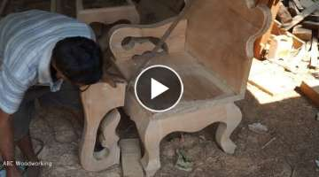 Making Sofa Hand And Install With Fast Skill_How to make and install Sofa Hand 2018