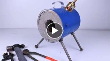 How to Make a Mini Blacksmith Propane Forge at Home. |DIY |