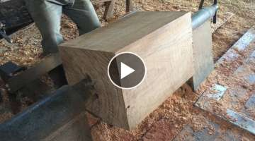 Great Skills Work With Extremely Large Wood Lathes // Making Hardwood Chairs Monolithic