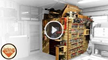 French Cleat Shop Storage Wall & Loft