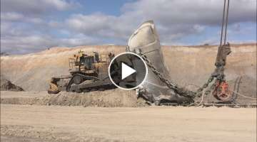 Becket Dump Ropes Change out on Dragline