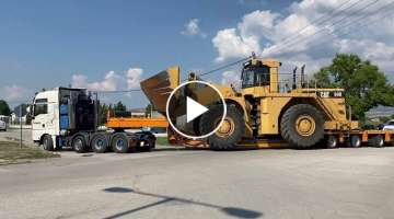 Transporting The Caterpillar 990 Wheel Loader - Fasoulas Heavy Transports