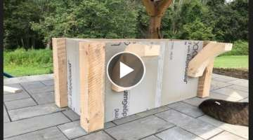 DIY Building an Outdoor Kitchen( Island Frame)