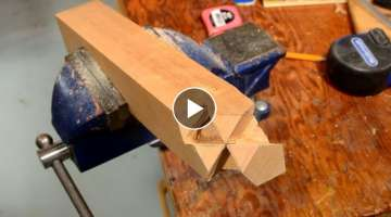 'Kawai Tsugite' A Japanese Woodworking Madness – A Three-Way Wood Joint