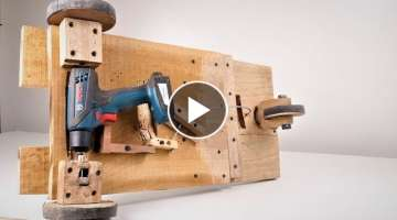 How to Make a Simple Drill Powered Hoverboard at Home. | DIY |