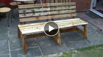 Garden bench out of reclaimed wood - DIY