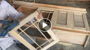 Amazing Woodworking Skills of Carpenters - Building Cabinets Door Extremely Simple and Beautiful