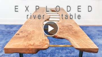 DIY brass river table || brass & live edge coffee table || woodworking