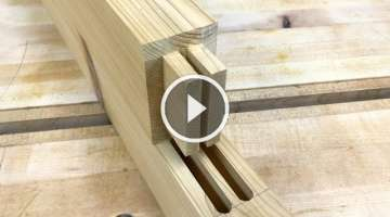 How to Make a Double Mortise & Tenon Joint