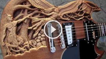 Good 'n Evil carved SG guitar