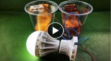 Science experiment new project free energy salt water with magnet