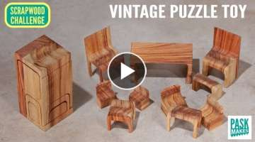 Homemade Vintage Puzzle Toy - Last Minute Gift Idea - Scrapwood Challenge ep21