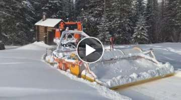 Amazing snow blower machines very fast removal snow out form road