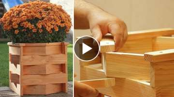 DIY Unique Wood Planter Box