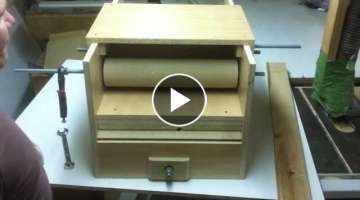 Cheap!!! 'HomeMade Drum Sander' With feeder. Almost done! 9