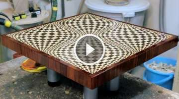 Making a Butterfly 3D end grain cutting board