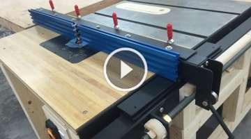 Router Table Fence for Table Saw