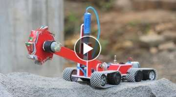 How to make a bucket wheel excavator || Hydraulic bucket wheel