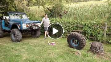 Spare tire stump pulling