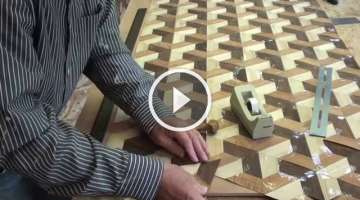 Woodworking Veneer inlay