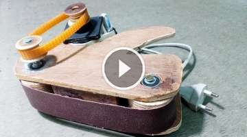 How to make Mini Belt Sander machine at home