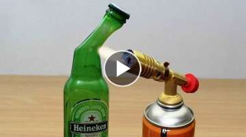 DIY: GLASS BEER BOTTLE vs GAS TORCH !!!