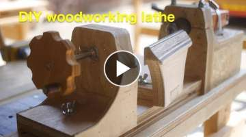 Make a woodworking lathe machine