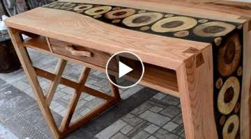 Making Ash and walnut desk - Woodworking