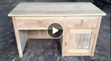Woodworking Techniques Extremely Modern - How To Build A Wood Desk For Your Home Office