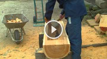 Manufacture of wooden troughs