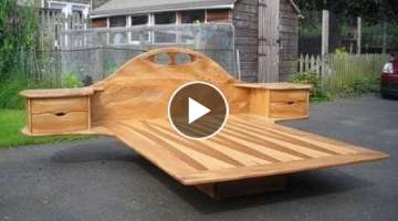 100 cool ideas products of wood! Bed!