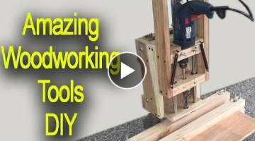 Amazing Woodworking Tools DIY Homemade Mortising Machine - Hollow Chisel Mortiser Drill Press
