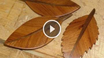 How to make a leaf from hardwood by Ridgeway Woodcraft