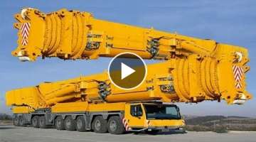 10 Extreme Dangerous Biggest Crane Truck Operator Skill - Biggest Heavy Equipment Machines Workin...