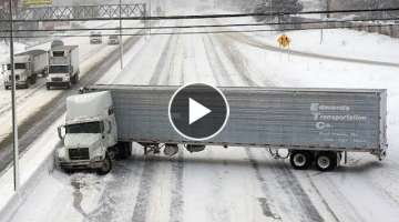 Dangerous Idiots Biggest Truck Fails Driving, Heavy Equipment Operator Machines Fail Working #3