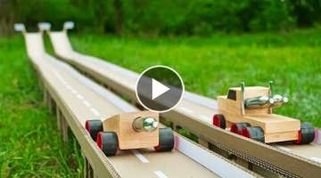 DIY HOT Wheels Race Truck Powered by 2x CO2 Cartridges