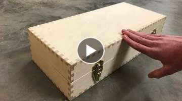 Can you finger joint all sides of a box?