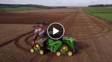 North Farm Horton John Deere 9RX with Kverneland 12 furrow Plough
