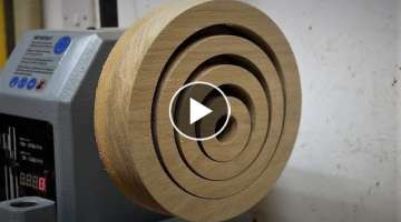Woodturning - The Optical oak Platter