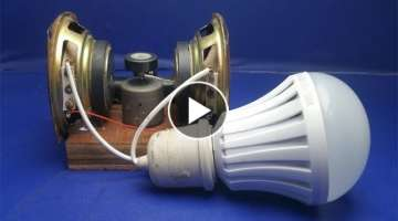 Free energy generator with magnets speaker 100%