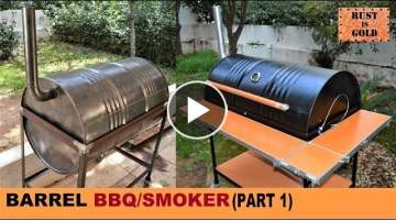 HOW TO BUILD A BARREL BBQ/SMOKER