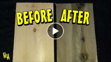Aging Wood - Vinegar & Steel Wool Solution (Easy)