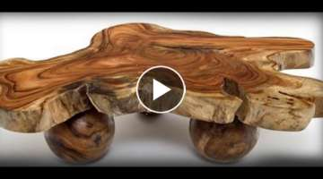 The most beautiful furniture. Furniture made from wood cuts.