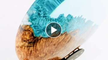 Woodturning - A Hybrid Planet 'Divergence'